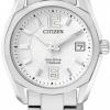 นาฬิกาข้อมือผู้หญิง Citizen Eco-Drive รุ่น EW2101-59B, 100m Super Titanium Sapphire Japan Watch