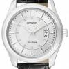 นาฬิกาข้อมือผู้ชาย Citizen Eco-Drive รุ่น AW1031-06B, WR 50m Elegant Leather