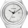 นาฬิกาข้อมือผู้ชาย Citizen Eco-Drive รุ่น AW1251-51A, Sapphire Super Titanium Japan 100m