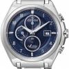 นาฬิกาข้อมือผู้ชาย Citizen Eco-Drive รุ่น CA0350-51L, Super Titanium Blue Sapphire 100m Chronograph