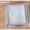 พิมพ์เค้ก สี่เหลี่ยม 8x8x1.5 นิ้ว อลูมิเนียม