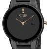 นาฬิกาข้อมือผู้หญิง Citizen Eco-Drive รุ่น GA1055-57F, Axiom Black Ion Stainless Steel