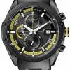 นาฬิกาข้อมือผู้ชาย Citizen Eco-Drive รุ่น CA0125-07E, Black Sports Chronograph Watch