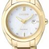 นาฬิกาข้อมือผู้หญิง Citizen Eco-Drive รุ่น EM0313-54A, Diamonds Sapphire Elegant Watch