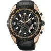 นาฬิกาผู้ชาย Orient รุ่น FTT0Y004B0, Chronograph Rose Gold Quartz Leather Strap Men's Watch