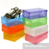 กล่องพลาสติกใส ใส่รองเท้า แบบพับได้ น้ำหนักเบา