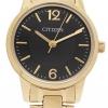 นาฬิกาข้อมือผู้หญิง Citizen รุ่น EJ6082-51E, Analog WR Quartz Gold Tone Watch