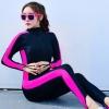 ชุดว่ายน้ำคนอ้วน วันพีชพร้อมส่ง :swimsuit สีดำแถบสีชมพูซิปหน้าขายาว. สีสันสดใสน่ารักมากๆจ้า:รอบอก34-44นิ้ว เอว28-36นิ้ว สะโพก32-44นิ้วจ้า