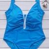 ชุดว่ายน้ำวันพีชพร้อมส่ง :ชุดว่ายน้ำคนอ้วน วันพีชสีฟ้าเว้าด้านหลังแต่งขอบสีขาวแบบเก๋ Sexy มากๆจ้า:รอบอก38-46นิ้ว เอว36-42นิ้ว สะโพก40-48นิ้วจ้า