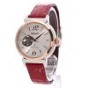 นาฬิกาข้อมือผู้หญิง Seiko รุ่น SSVM012, Lukia Automatic Swarovski Sapphire Crocodile Strap Women's Watch