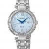 นาฬิกาผู้หญิง Seiko รุ่น SUT181, Tressia Solar Diamond Mother Of Pearl Dial Stainless Steel