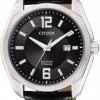 นาฬิกาข้อมือผู้ชาย Citizen Eco-Drive รุ่น BM7081-01E, Super Titanium Leather Sapphire