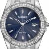 นาฬิกาผู้หญิง Citizen รุ่น EW2350-54L, Eco-Drive Silhouette Crystal