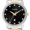 นาฬิกาผู้ชาย Citizen รุ่น BI5034-51E, Two Tone Swarovski Crystal Stainless Steel watch