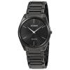 นาฬิกาผู้ชาย Citizen Eco-Drive รุ่น AR3075-51E, Stiletto All Black Stainless Steel Thick 4.7mm Men's Watch