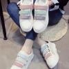 รองเท้าผ้าใบแฟชั่นเกาหลี Velcro
