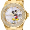 นาฬิกาผู้หญิง Invicta รุ่น INV24751, Disney Angel Crystal MOP Dial Yellow Gold Limited Edition Women's Watch