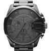 นาฬิกาผู้ชาย Diesel รุ่น DZ4282, Mega Chief Quartz Chronograph Grey Dial Black IP