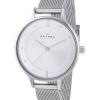 นาฬิกาผู้หญิง Skagen รุ่น SKW2149, Anita Silver Dial Swarovski Crystal Mesh Bracelet