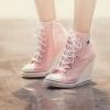 รองเท้าผ้าใบเกาหลีส้นสูง10cm