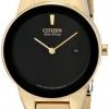 นาฬิกาผู้หญิง Citizen รุ่น GA1052-55E, Eco-Drive Axiom Black Gold Tone 30m Elegant