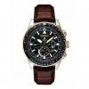 นาฬิกาผู้ชาย Seiko รุ่น SSC632, Prospex Solar Pilots Leather Strap