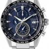 นาฬิกาผู้ชาย Citizen Eco-Drive รุ่น AT8154-82L, Radio Controlled AT Chronograph Sapphire Titanium Men's Watch