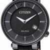 นาฬิกาข้อมือผู้หญิง Citizen Eco-Drive รุ่น EW1794-05E, Sapphire Japan Black Leather Watch