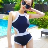 ชุดว่ายน้ำวันพีช พร้อมส่ง :ชุดว่ายน้ำแฟชั่นสีดำตัดขอบสีขาวแบบเก๋ sexyน่ารักมากๆจ้า.:รอบอก34-42นิ้ว เอว32-38นิ้ว สะโพก36-44นิ้วจ้า