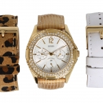 นาฬิกา Guess Model U13597L1, Interchangeable Animal Print Leather Straps