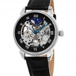 นาฬิกาผู้ชาย Stuhrling Original รุ่น 835.02, Special Reserve Automatic Skeleton Leather Men's Watch