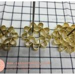 พิมพ์ดอกจอก ทองเหลือง ขนาด 10 ซม