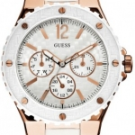 นาฬิกา Guess Model U12652L1, White Multi-Dial Sports Watch
