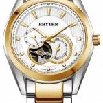 นาฬิกาผู้ชาย Rhythm รุ่น A1402S03, Automatic Sapphire Open Heart A1402S 03, A1402S-03
