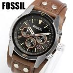 นาฬิกาผู้ชาย Fossil รุ่น CH2891, Coachman Chronograph Brown Leather