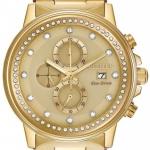 นาฬิกา ชาย-หญิง Citizen Eco-Drive รุ่น FB3002-53P, Nighthawk Chronograph Elegant Gold Tone Unisex Watch
