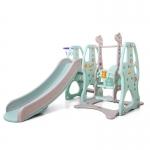 สไลเดอร์ 3 อิน 1 สำหรับเด็ก Mini Playground Set หมีและยีราฟ