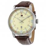 นาฬิกาผู้ชาย Tommy Hilfiger รุ่น 1710343, George Beige Dial Brown Leather