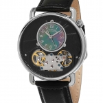 นาฬิกาผู้ชาย Stuhrling Original รุ่น 693.02, Legacy Skeleton Mother of Pearl Genuine Leather Strap Men's Watch