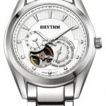 นาฬิกาผู้ชาย Rhythm รุ่น A1402S01, Automatic Sapphire Open Heart A1402S 01, A1402S-01