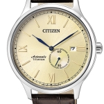 นาฬิกาผู้ชาย Citizen รุ่น NJ0090-13P, Mechanical Automatic Sapphire Titanium Leather