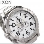 นาฬิกาผู้ชาย Nixon รุ่น A083100, 51-30 CHRONO Silver White