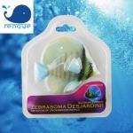ปลา zebrasoma disjardinii ซิลิโคลนเรืองแสงหัวสีเขียว ครีบสีเหลือง