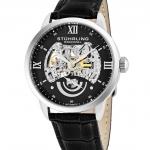 นาฬิกาผู้ชาย Stuhrling Original รุ่น 574.02, Executive II Stainless Steel Genuine Leather Strap Men's Watch