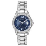นาฬิกาผู้หญิง Citizen รุ่น FE1140-86L, Silhouette Eco-Drive Diamond Women's Watch