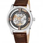 นาฬิกาผู้ชาย Stuhrling Original รุ่น 877.03, Winchester Automatic Skeleton Leather Strap Men's Watch