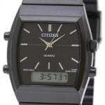 นาฬิกาข้อมือ ชาย & หญิง Citizen รุ่น JM0545-58E, Ana-Digi Chronograph Alarm Black IP