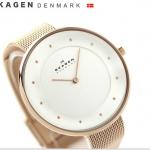 นาฬิกาผู้หญิง Skagen รุ่น SKW2142, Rose Gold-Tone Mesh Bracelet Women's Watch
