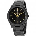 นาฬิกาผู้หญิง Michael Kors รุ่น MK3221, Slim Runway Black Ion-Plated Quartz Women's Watch