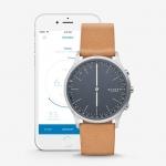 นาฬิกาผู้ชาย Skagen รุ่น SKT1200, Jorn Connected Hybrid Smartwatch Leather Men's Watch